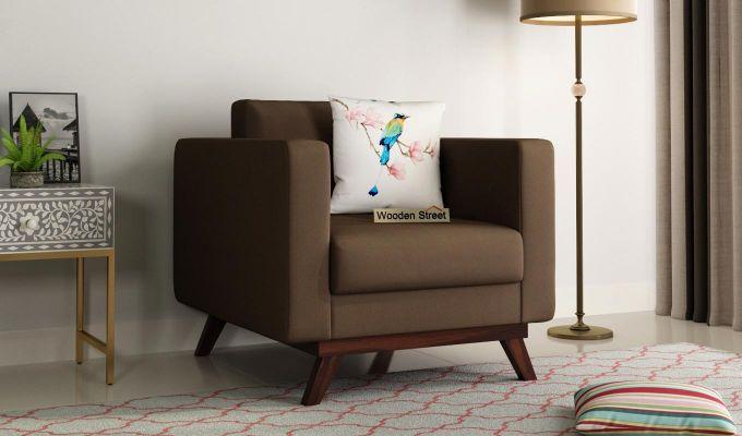 Casper 2 Seater Sofa (Fabric, Classic Brown)-5