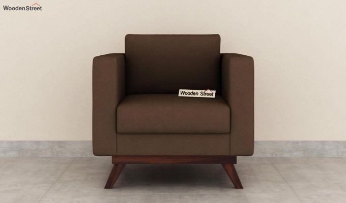 Casper 2 Seater Sofa (Fabric, Classic Brown)-6