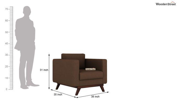 Casper 2 Seater Sofa (Fabric, Classic Brown)-9