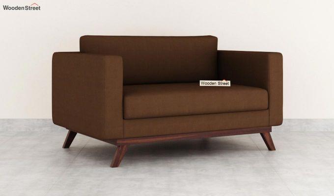 Casper 2 Seater Sofa (Fabric, Classic Brown)-2