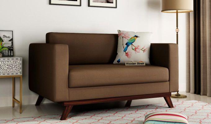 Casper 2 Seater Sofa (Fabric, Classic Brown)-1