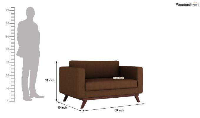 Casper 2 Seater Sofa (Fabric, Classic Brown)-10