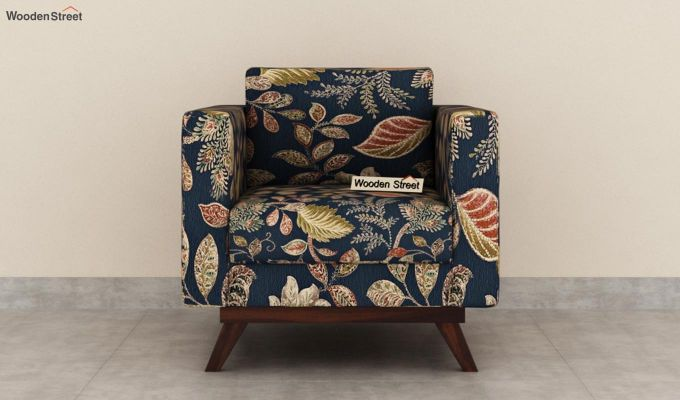 Casper 2 Seater Sofa (Fabric, Dusky Leaf)-6