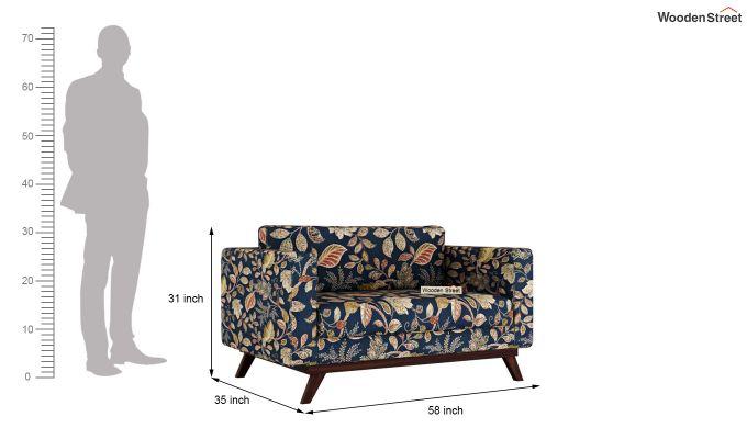 Casper 2 Seater Sofa (Fabric, Dusky Leaf)-10