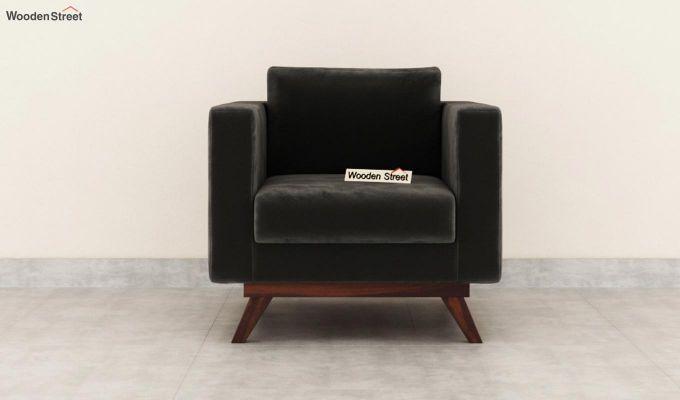 Casper 2 Seater Sofa (Velvet, Graphite Grey)-6