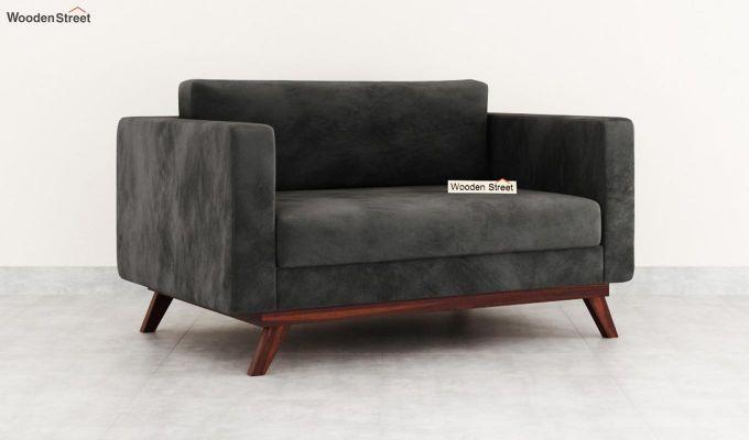 Casper 2 Seater Sofa (Velvet, Graphite Grey)-2