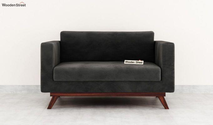 Casper 2 Seater Sofa (Velvet, Graphite Grey)-3