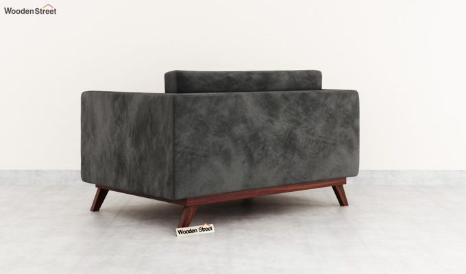 Casper 2 Seater Sofa (Velvet, Graphite Grey)-4