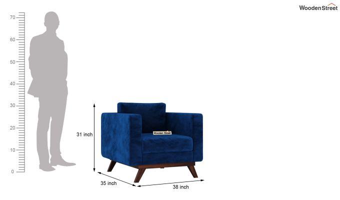 Casper 2 Seater Sofa (Velvet, Indigo Blue)-9