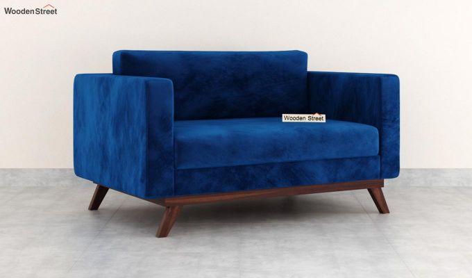 Casper 2 Seater Sofa (Velvet, Indigo Blue)-2