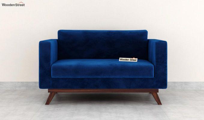 Casper 2 Seater Sofa (Velvet, Indigo Blue)-3