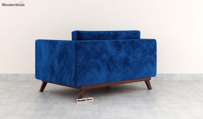 Casper 2 Seater Sofa (Velvet, Indigo Blue)-4
