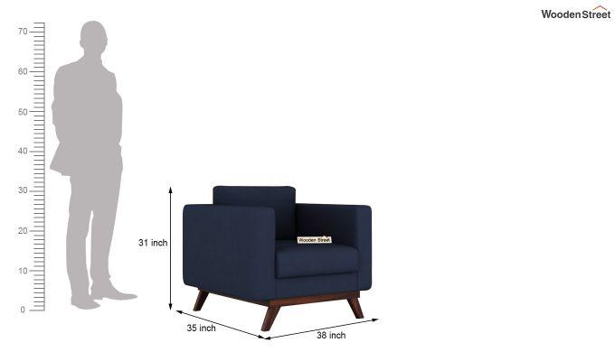 Casper 2 Seater Sofa (Fabric, Indigo Ink)-9
