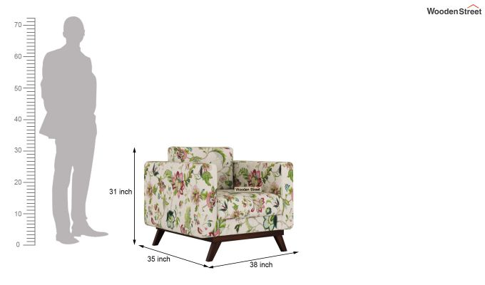 Casper 2 Seater Sofa (Fabric, Rose Vineyard)-9