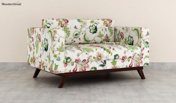 Casper 2 Seater Sofa (Fabric, Rose Vineyard)-2