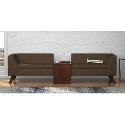 Christoph Fabric Sofa Set (Classic Brown)