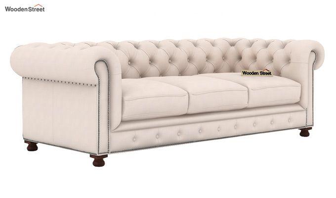 Crispix 3+2 Seater Sofa (Fabric, Ivory Nude)-2