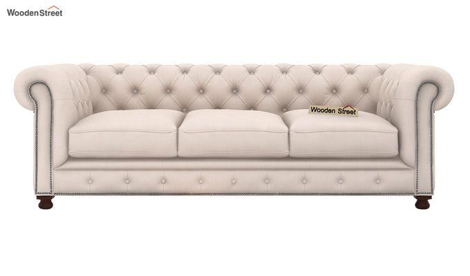 Crispix 3+2 Seater Sofa (Fabric, Ivory Nude)-3