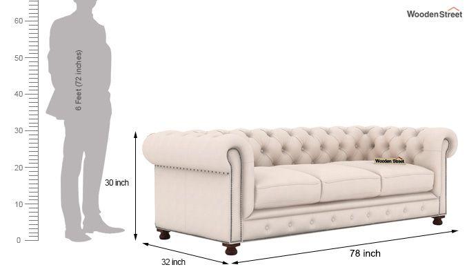 Crispix 3+2 Seater Sofa (Fabric, Ivory Nude)-6