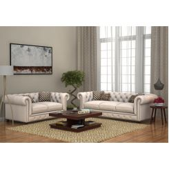 Crispix 3+2 Seater Sofa (Fabric, Ivory Nude)