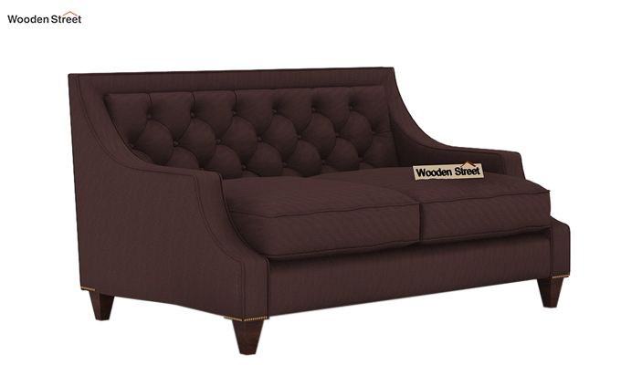 Daisy 2 Seater Sofa (Fabric, Classic Brown)-1