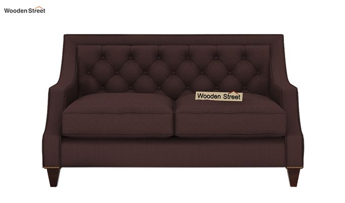 Daisy 2 Seater Sofa (Fabric, Classic Brown)-2