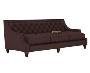 Daisy 3 Seater Sofa (Fabric, Classic Brown)