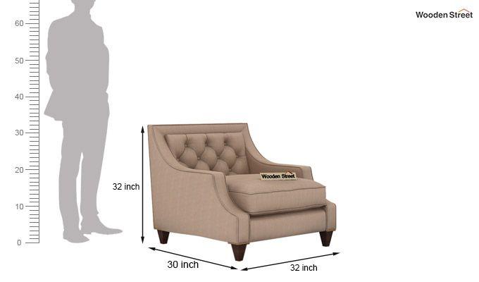 Daisy 1 Seater Sofa ( Fabric, Irish Cream)-3