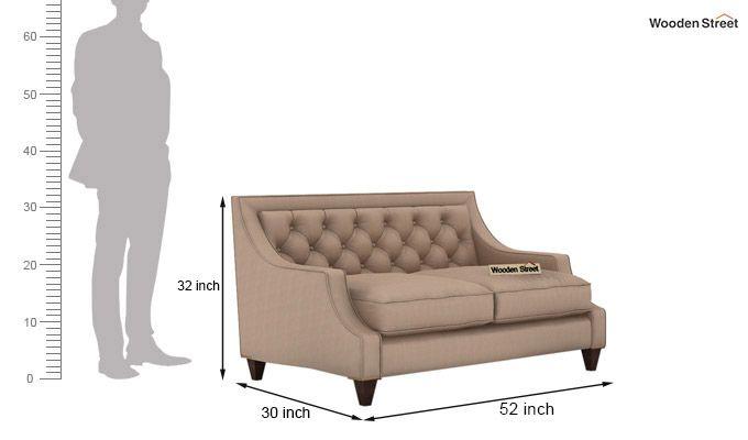 Daisy 2 Seater Sofa (Fabric, Irish Cream)-3