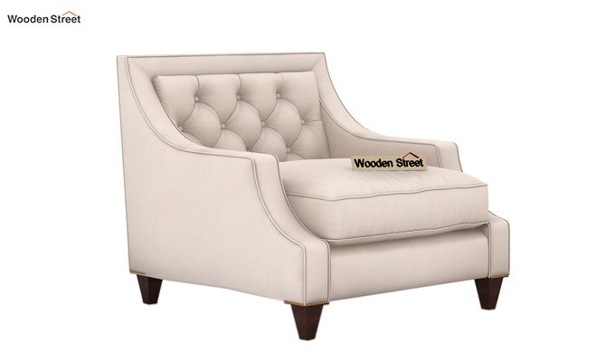 Daisy 1 Seater Sofa ( Fabric, Ivory Nude)-1
