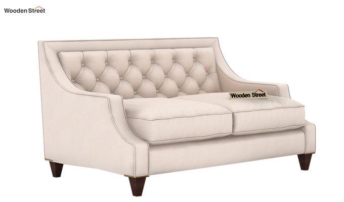 Daisy 2 Seater Sofa (Fabric, Ivory Nude)-1