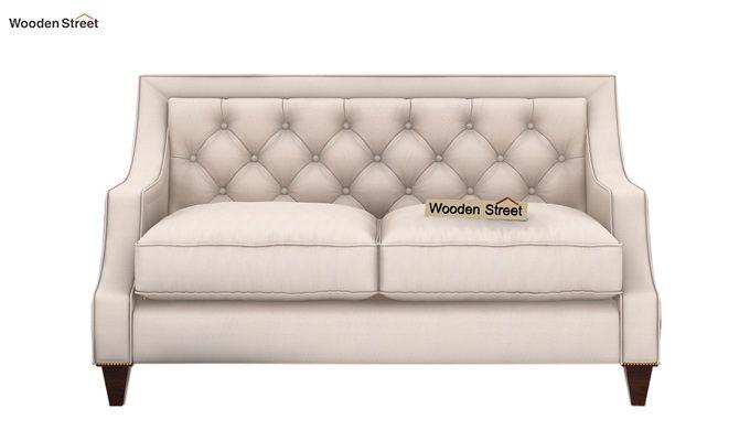 Daisy 2 Seater Sofa (Fabric, Ivory Nude)-2
