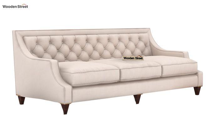 Daisy 3 Seater Sofa (Fabric, Ivory Nude)-1