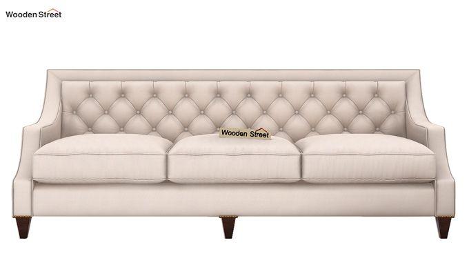 Daisy 3 Seater Sofa (Fabric, Ivory Nude)-2