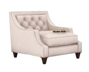 Daisy 1 Seater Sofa ( Fabric, Ivory Nude)