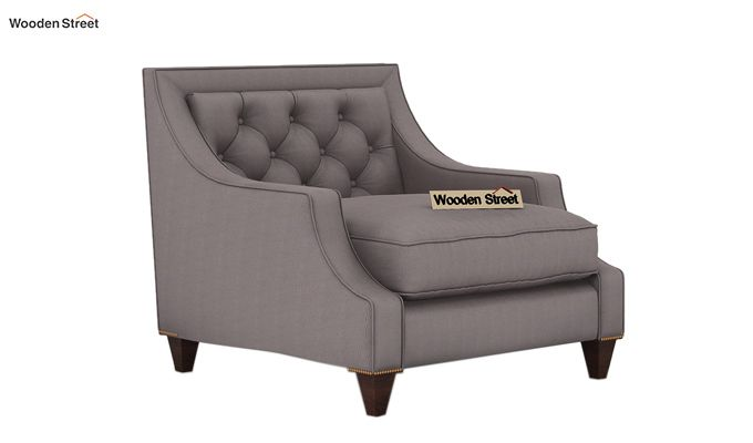 Daisy 1 Seater Sofa ( Fabric, Warm Grey)-1