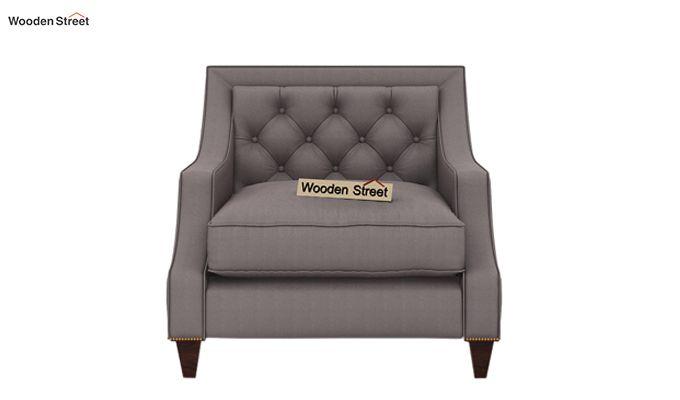 Daisy 1 Seater Sofa ( Fabric, Warm Grey)-2