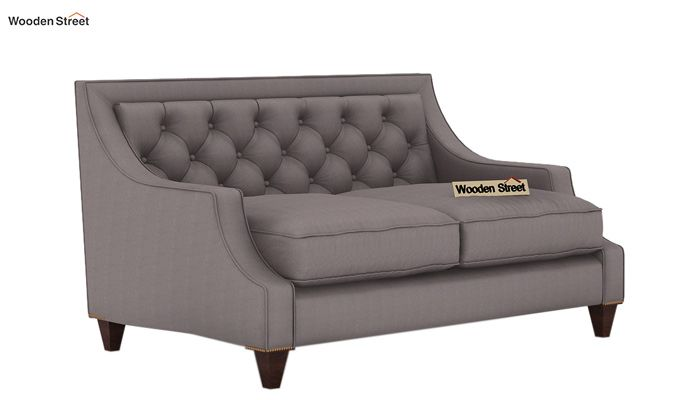 Daisy 2 Seater Sofa (Fabric, Warm Grey)-1