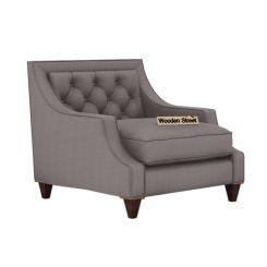 Daisy 1 Seater Sofa ( Fabric, Warm Grey)