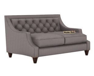 Daisy 2 Seater Sofa (Fabric, Warm Grey)