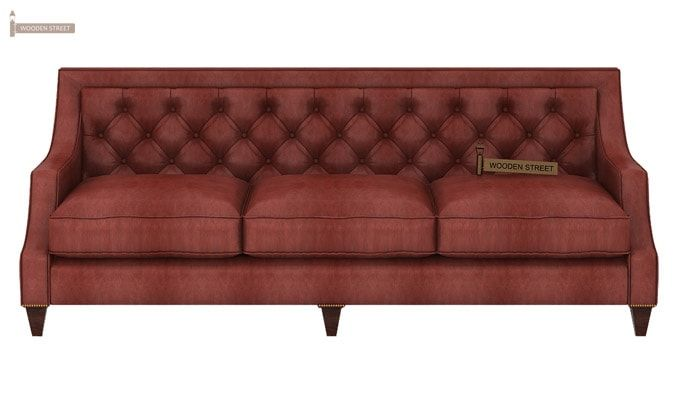 Daisy 3 Seater Sofa (Leatherette, Burnt Umber)-2