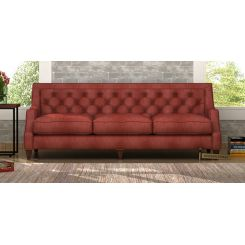 Daisy 3 Seater Sofa (Leatherette, Burnt Umber)