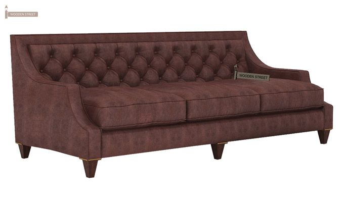 Daisy 3 Seater Sofa (Leatherette, Dark Chocolate)-3