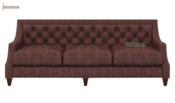 Daisy 3 Seater Sofa (Leatherette, Dark Chocolate)-2