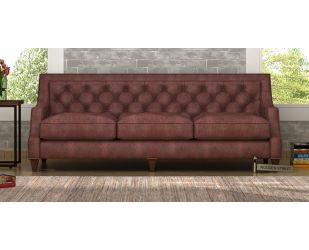 Daisy 3 Seater Sofa (Leatherette, Dark Chocolate)