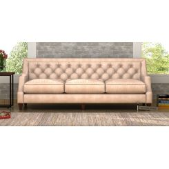 Daisy 3 Seater Sofa (Leatherette, Rose White)