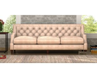 Daisy 3 Seater Sofa (Leatherette, Rose White)