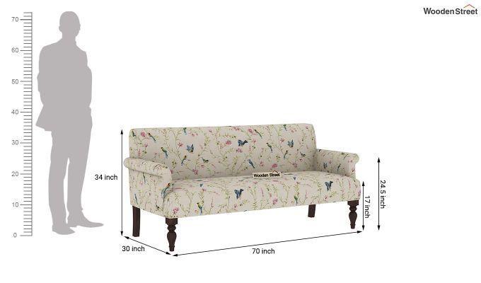 Foley 2 Seater Sofa (Linen, Cream Robins)-10