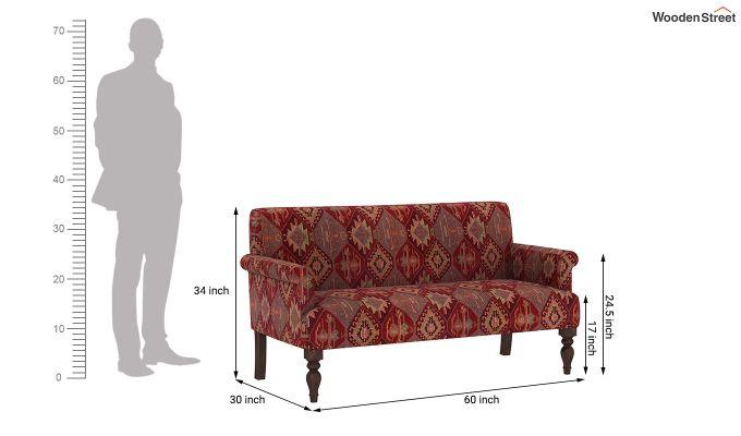 Foley 2 Seater Sofa (Kilim, Sangria Red)-6