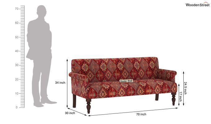 Foley 2 Seater Sofa (Kilim, Sangria Red)-7